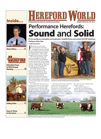 October 2010 Hereford World By American Association And