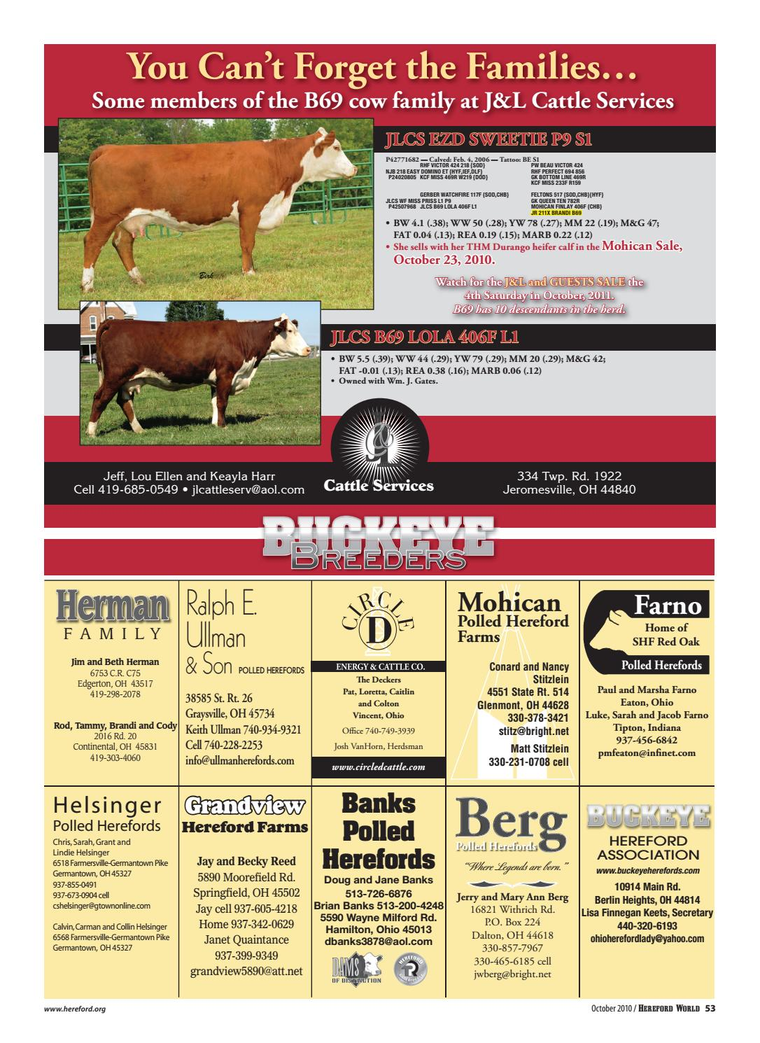 df84e410aa October 2010 Hereford World by American Hereford Association and ...