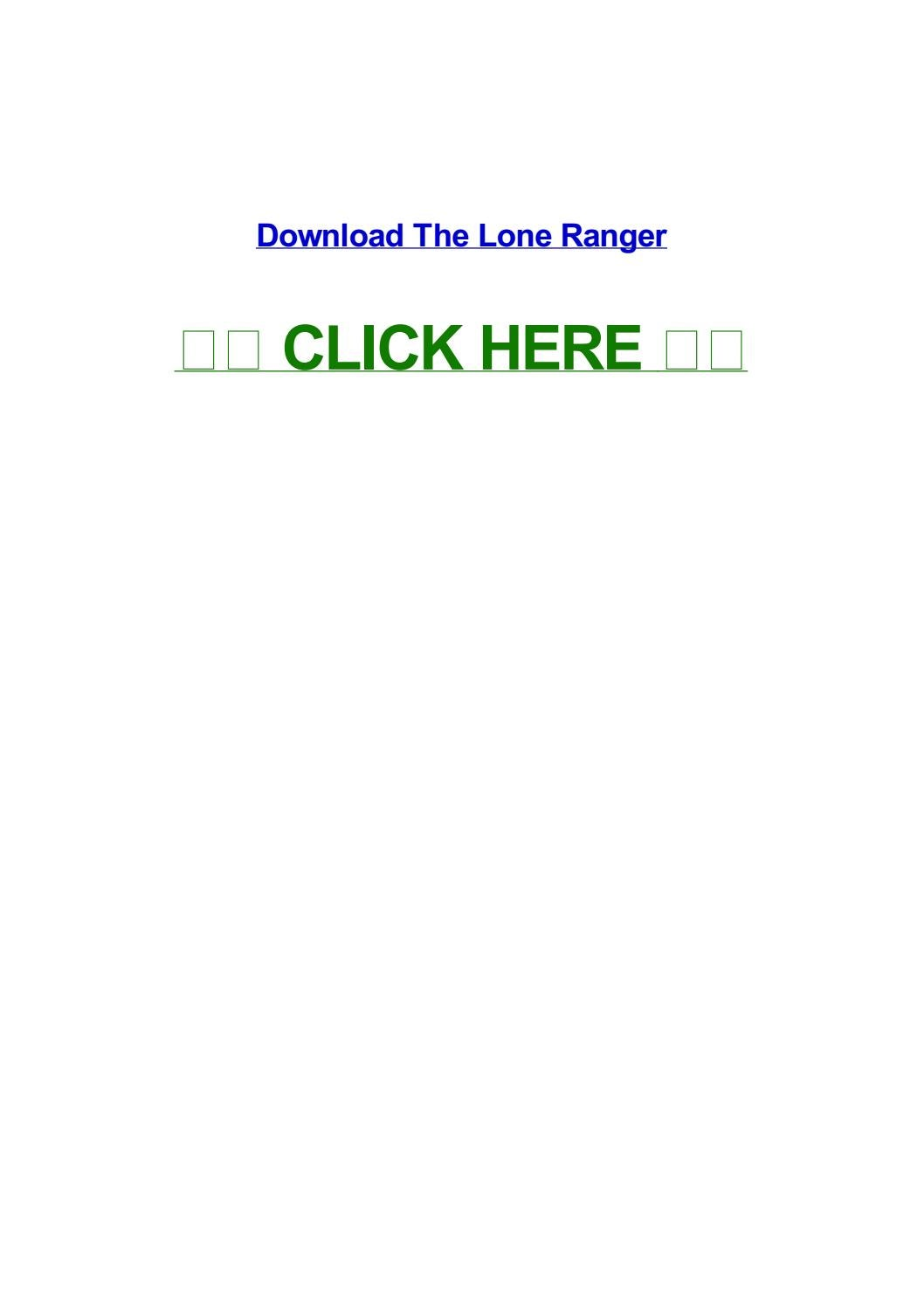 the lone ranger download yify