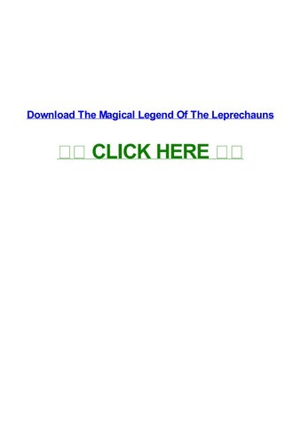 🔥 the magical legend of the leprechauns wikipedia.