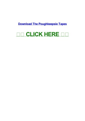 The tapes of poughkeepsie online dating