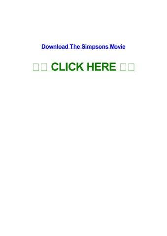 The Simpsons Movie By Billdwodf Issuu