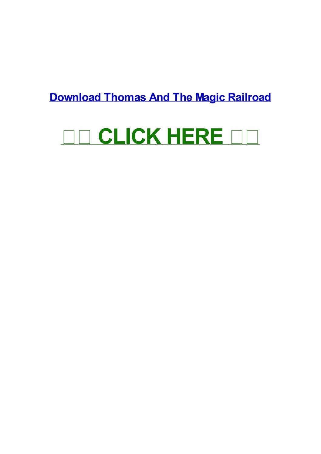Thomas and the magic railroad by michelleebchv - issuu