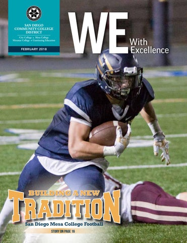 We With Excellence February 2018 By San Diego Community College