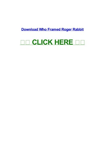 who framed roger rabbit full movie in hindi download