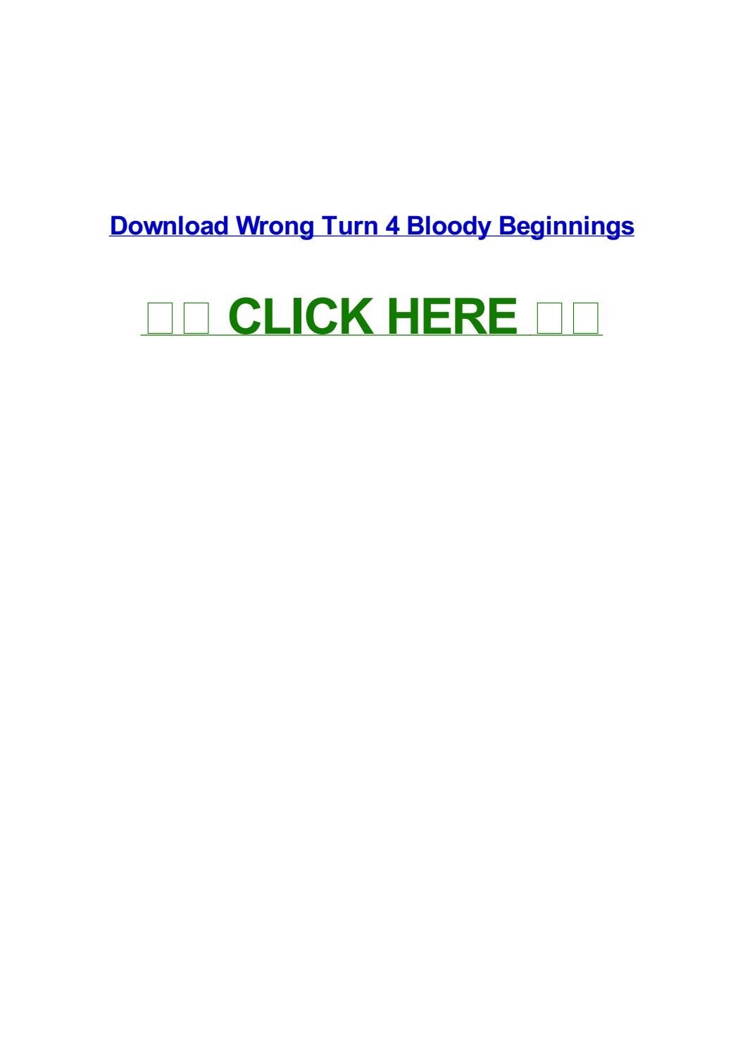 Wrong turn 4 bloody beginnings by normapsevz - issuu