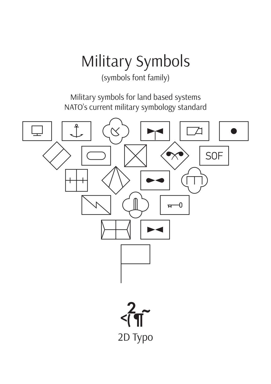 Military Symbols Demo Fonts Family By 2d Studio Issuu