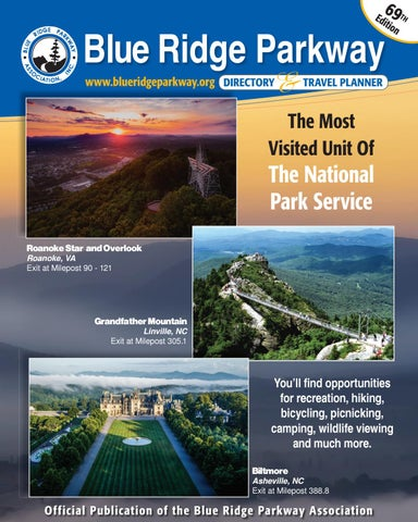 Blue Ridge Parkway Directory Travel Planner 69th Edition By Blue