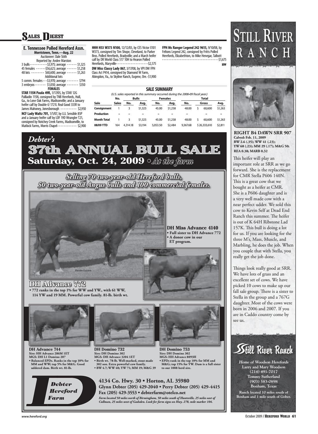 cddea85639 October 2009 Hereford World by American Hereford Association and ...