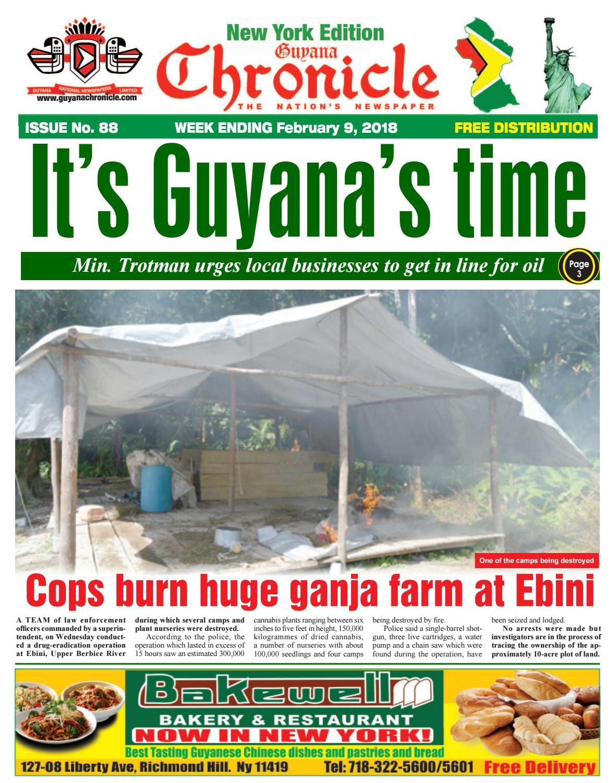 New York Edition E Paper 02 09 2018 By Guyana Chronicle E Paper  # Muebles Dencina Granada