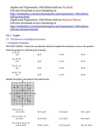 algebra and trigonometry 10th edition