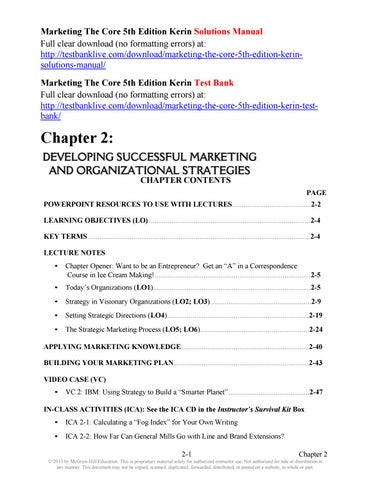 Marketing the core 5th edition kerin solutions manual by wessner999 marketing the core 5th edition kerin solutions manual full clear download no formatting errors at fandeluxe Images