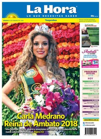Tungurahua 10 De Febrero De 2018 By Diario La Hora Ecuador