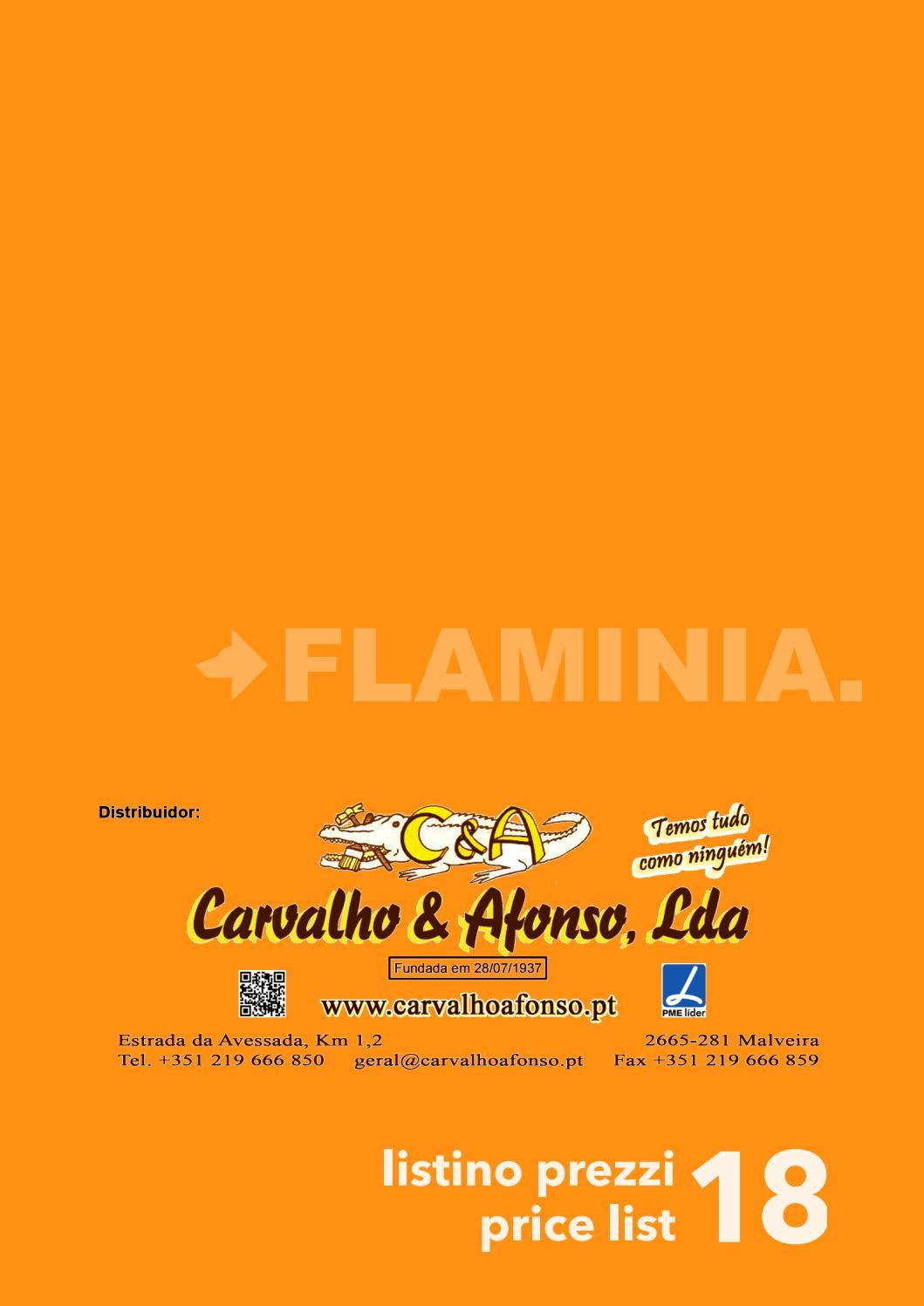 Listino Prezzi Ceramica Flaminia.Flaminia Tabela Precos 2018 Ca By Carvalho Afonso Lda Issuu