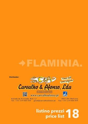 Flaminia tabela precos 2018 ca by Carvalho & Afonso, Lda - issuu