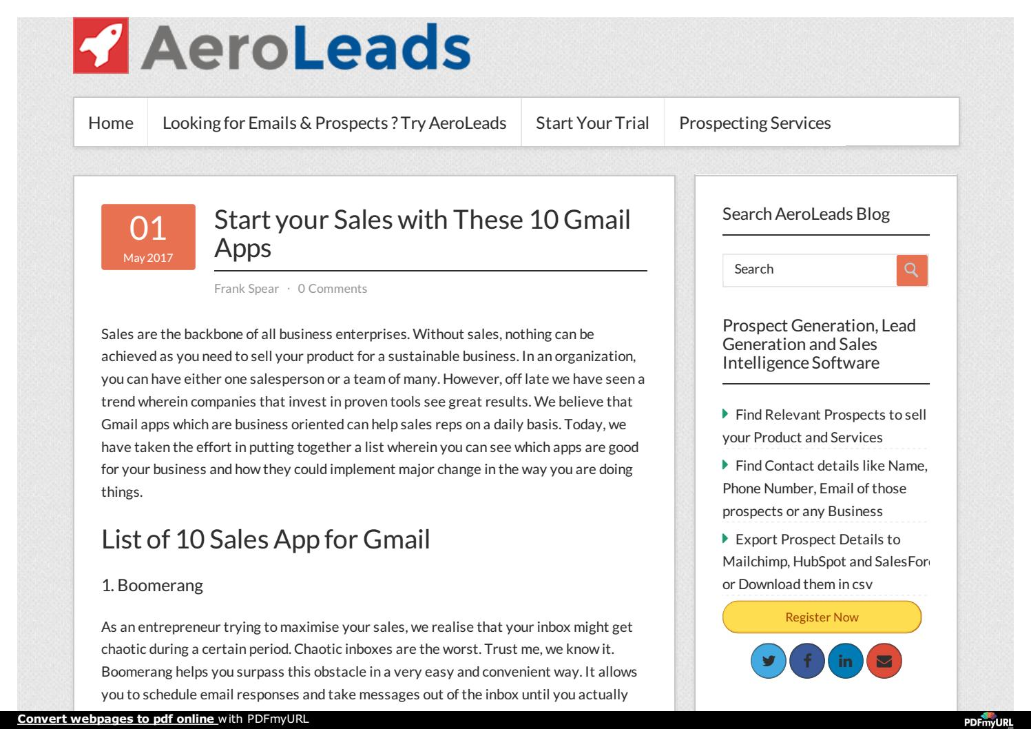 Start your Sales with These 10 Gmail Apps by Shalini Yadav