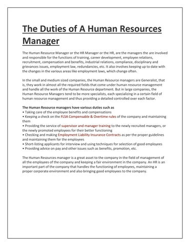 Human resources dating employee