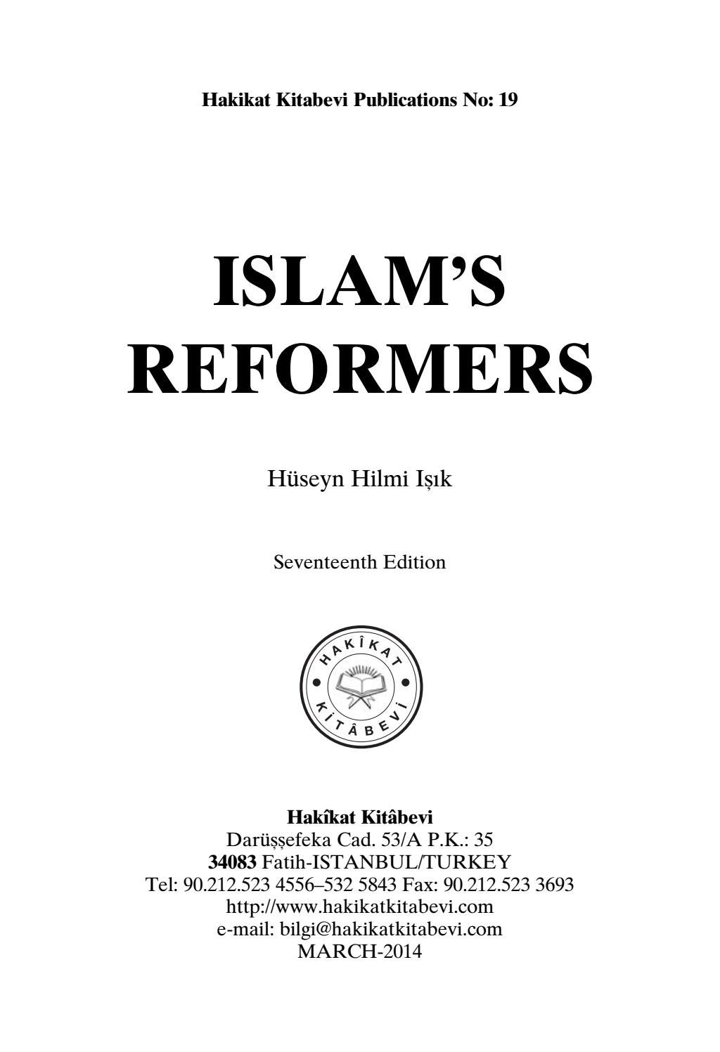 Islam's Reformers by bookdistributor55 - issuu