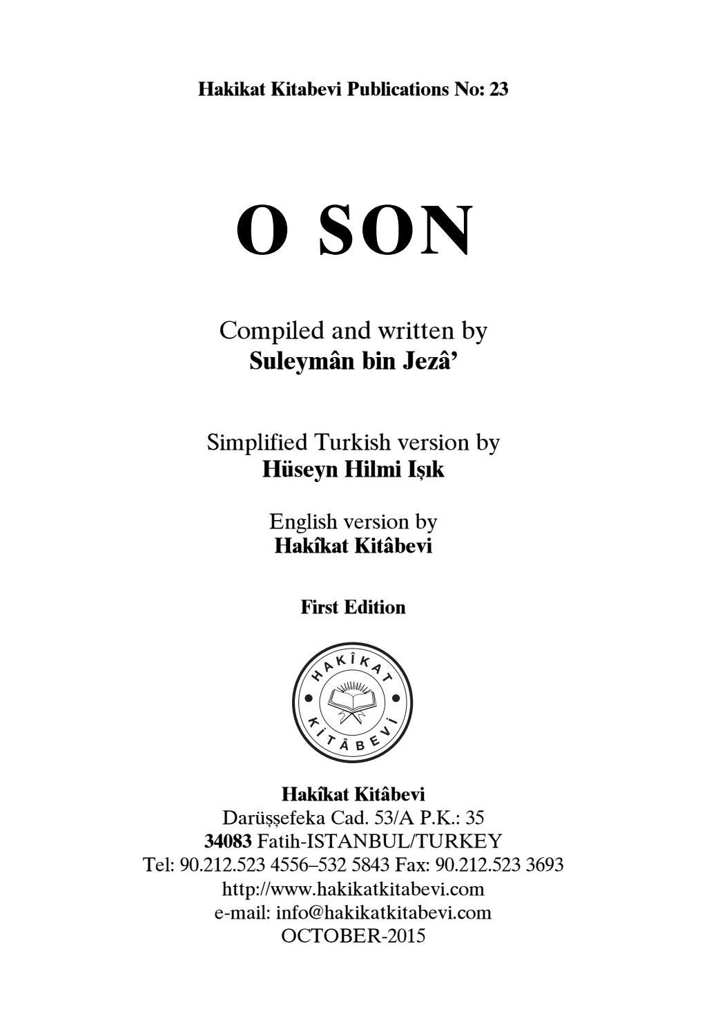 O Son by bookdistributor55 - issuu