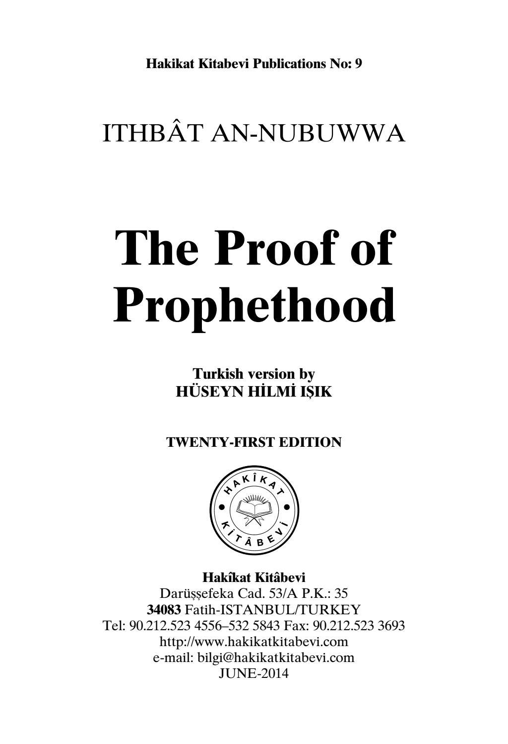 Proof Of Prophethood By Bookdistributor55 Issuu