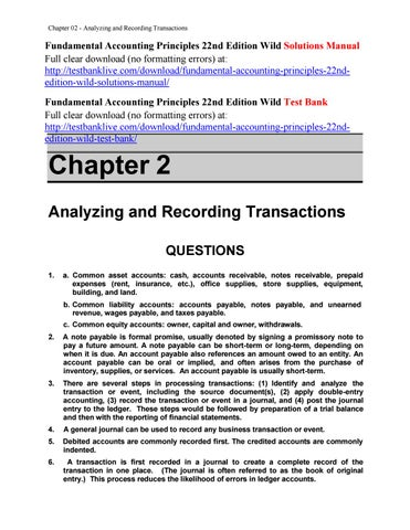 fundamental accounting principles 22nd edition wild solutions manual rh issuu com Accounting Fundamentals CH 3 Slides Fundamentals Accounting Notes