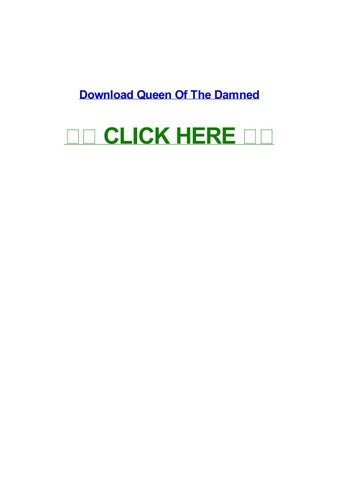queen of the damned full movie viooz