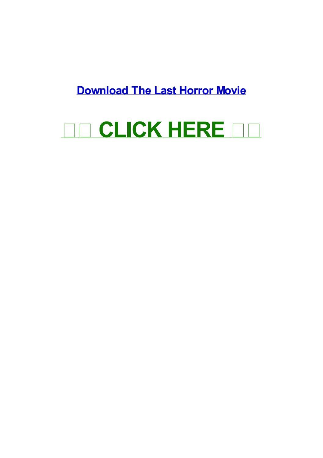 The Last Horror Movie By Susanacxw Issuu