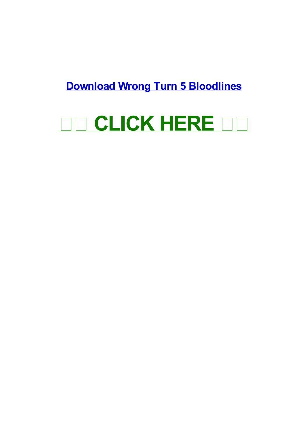 wrong turn 5 bloodlines by hannahglcw - issuu