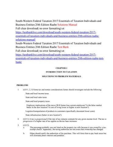 south western federal taxation 2017 essentials of taxation rh issuu com Federal Taxation Solution Manual