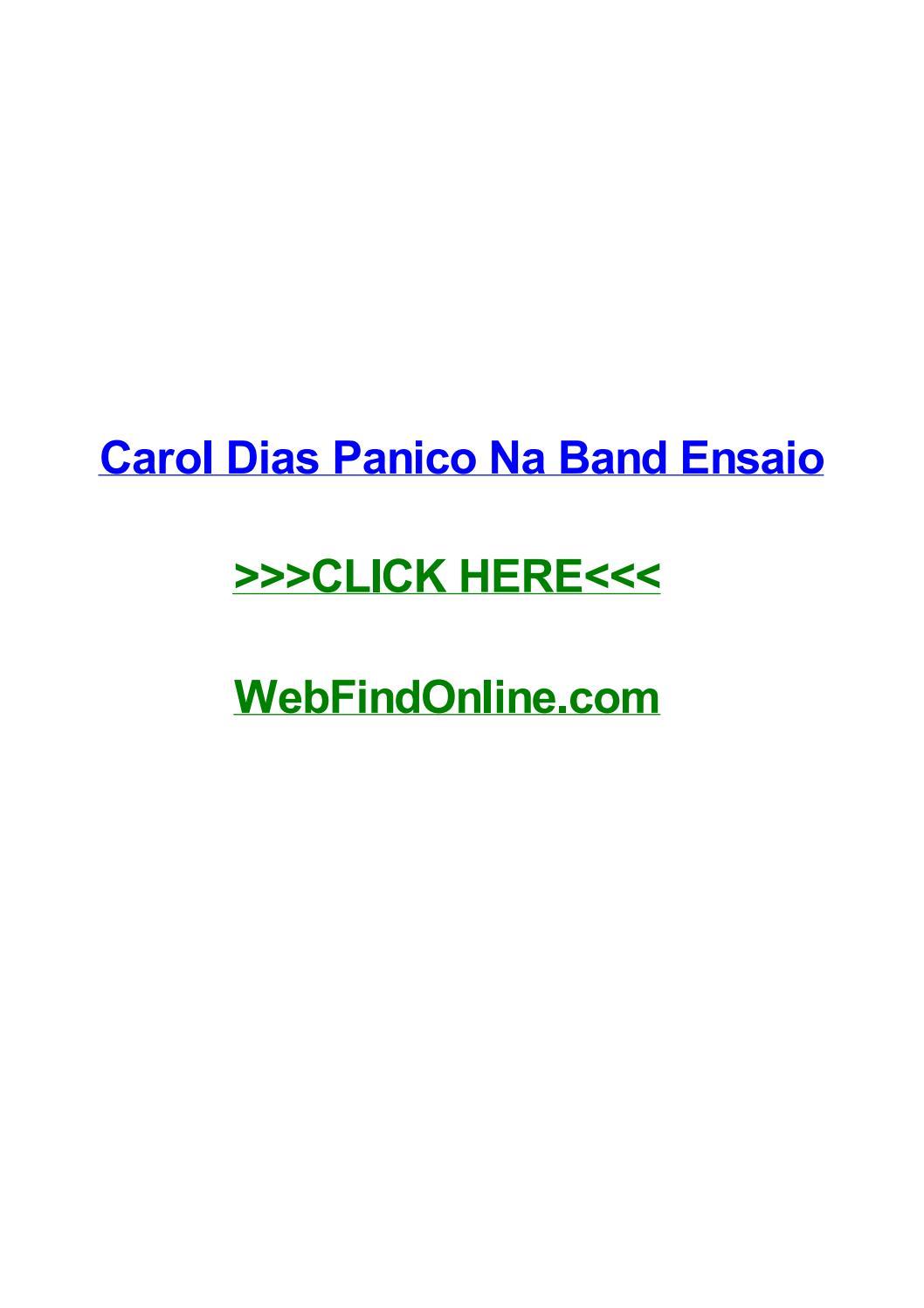 Carol dias panico na band ensaio by tonyjjir issuu fandeluxe Images