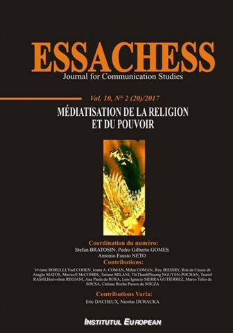 Elegant ESSACHESS JCS Vol 10, No 2(20) (2017): Mediatization Of Religion And ...
