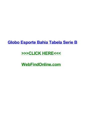 Globo Esporte Bahia Tabela Serie B By Guyyyaxy Issuu