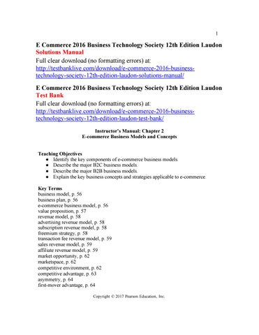 E commerce 2016 business technology society 12th edition laudon page 1 1 e commerce 2016 business technology society 12th edition laudon fandeluxe Gallery