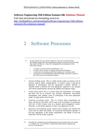 Software Engineering Ian Sommerville 10th Edition Free Download