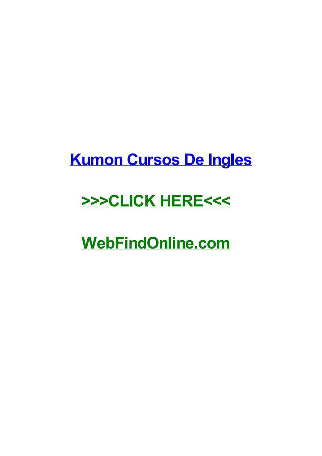 Kumon Cursos De Ingles By Chuckjpbtl Issuu