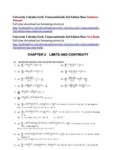 university calculus early transcendentals 3rd edition hass solutions rh issuu com university calculus early transcendentals 3rd edition solutions manual pdf university calculus hass weir thomas solutions manual pdf