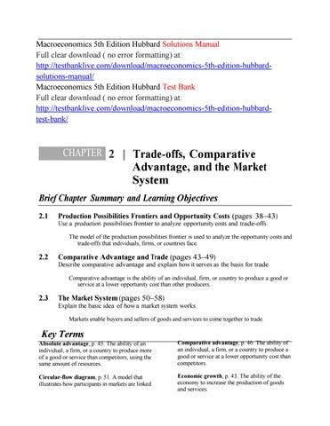 Macroeconomics 5th Edition Hubbard Solutions Manual By Xszz Issuu