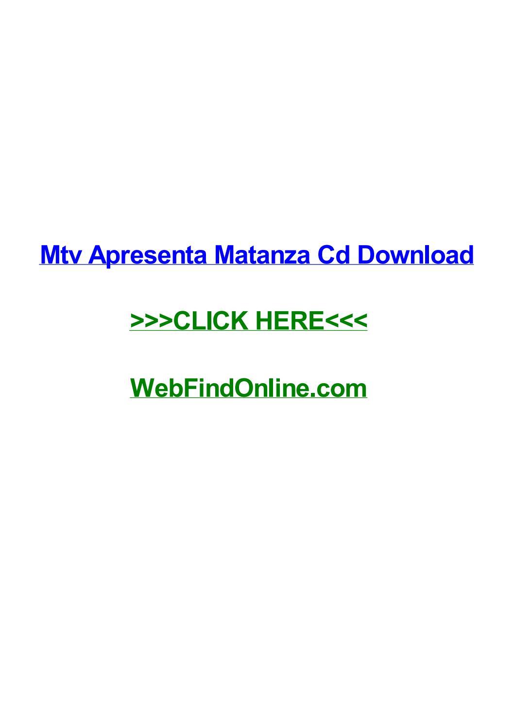 APRESENTA MATANZA MTV BAIXAR SHOW