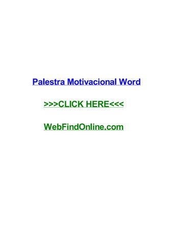 Palestra Motivacional Word By Lanaabqm Issuu