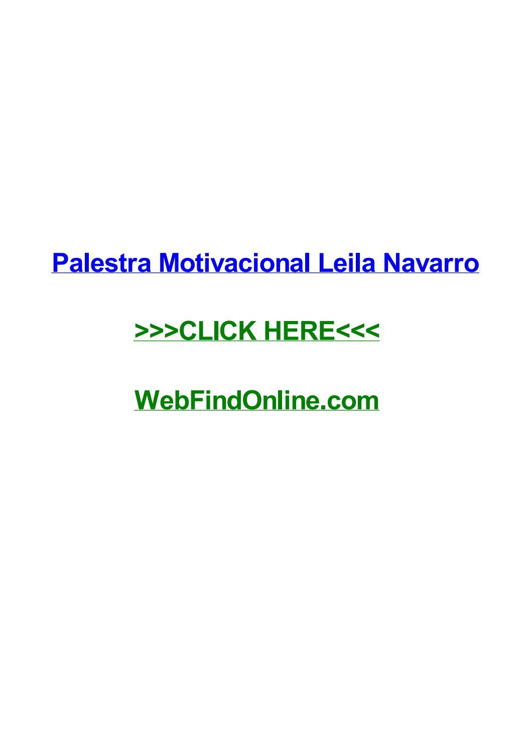 Palestra Motivacional Leila Navarro By Lanaabqm Issuu