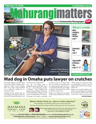 Mahurangi matters 14 february 2018 by localmatters issuu page 1 fandeluxe Images