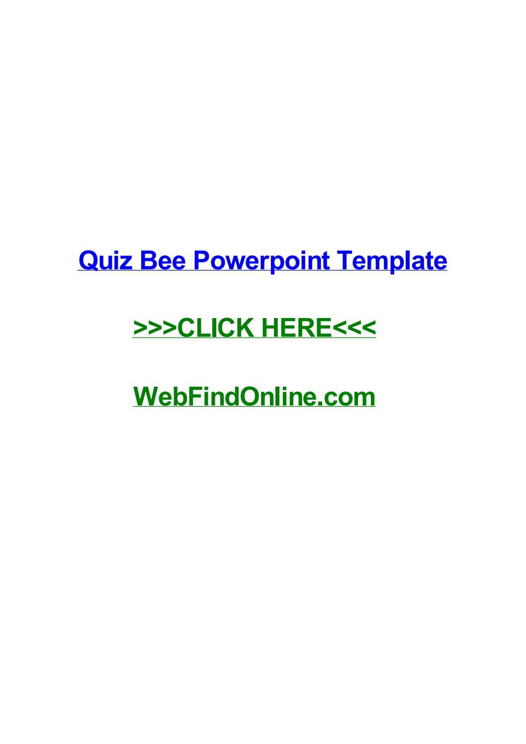 Quiz bee powerpoint template by dreweraf issuu toneelgroepblik Gallery