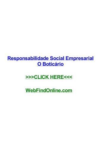 Responsabilidade social empresarial o boticrio by debrafvsw issuu page 1 fandeluxe Gallery