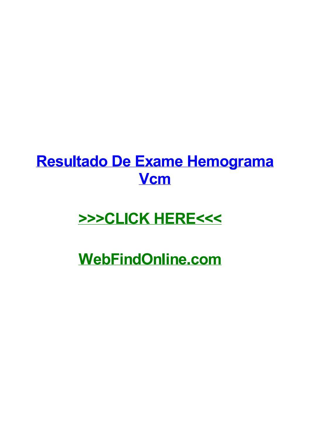 Resultado de exame hemograma vcm by chrisfwdc issuu fandeluxe Image collections