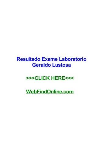 Resultado Exame Laboratorio Geraldo Lustosa By Pamelafqdgr