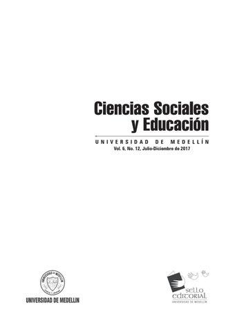 Revista ciencias sociales y educación no 12 by Hilderman Cardona ...