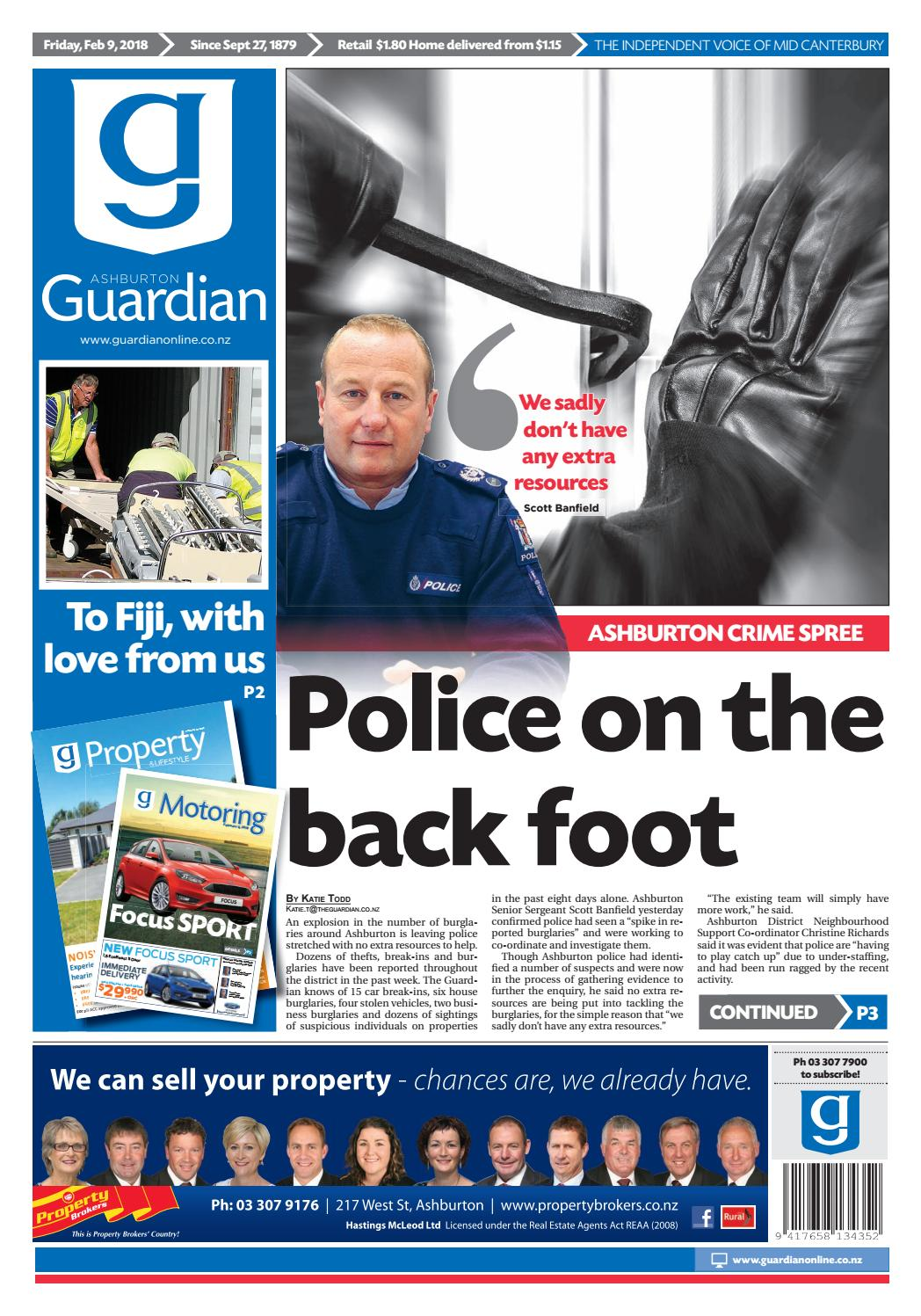 Ag 09 february, 2018 by Ashburton Guardian - issuu