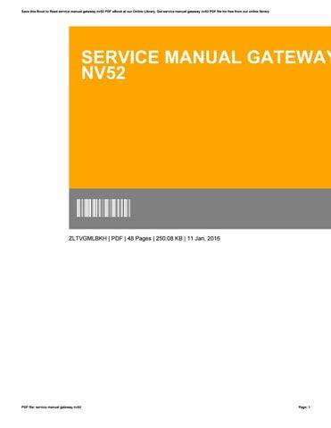 service manual gateway nv52 by kumail8965 issuu rh issuu com Gateway NV78 Gateway NV53