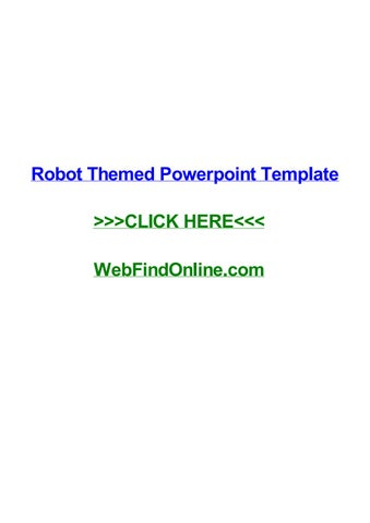 Robot themed powerpoint template by ashleyujcmx issuu robot themed powerpoint template robot themed powerpoint template eugene ifce juazeiro cursos net exam last date to apply 2018 bar exam syllabus toneelgroepblik Images