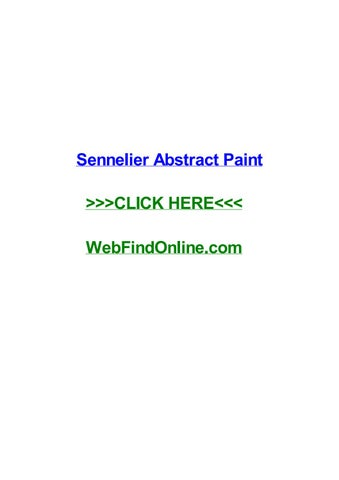 Sennelier Abstract Paint By Israelbkrn Issuu